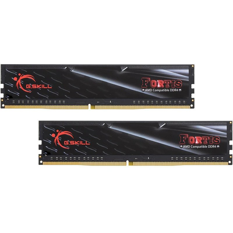 Memorie G.Skill Fortis (for AMD) 16GB DDR4 2400MHz CL16 1.2v Dual Channel Kit