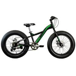 "Good Bike Fat Bike 24"" Pitbull 20, pentru copii, Black/Green"