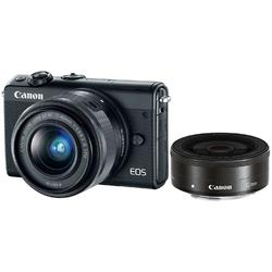 Canon Aparat foto Mirrorless EOS M100, 24.2 MP, + Obiectiv 15-45 mm + Obiectiv 22 mm
