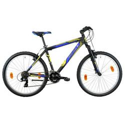 "Good Bike Bicicleta MTB 26"" Proxima, Black/Blue/Yellow, 46cm/S-M"