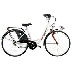 "Good Bike Bicicleta City 26"" Siviglia, Monoframe, White/Silver"