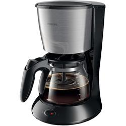Philips Cafetiera Daily Collection HD7462/20, Sistem Anti-picurare, Sistem Aroma twister, Vas de sticla, 1000W, 1.2 l, 2-15 cesti, Negru si metalic