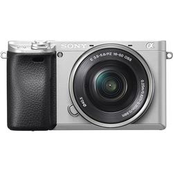 Aparat foto Mirrorless Sony Alpha A6300L 24.3MP, 4K, Wi-Fi NFC, Black + Obiectiv 16-50mm, Silver