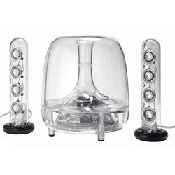 Sistem audio activ 2.1 Harman Kardon Soundsticks 3, 40W RMS, Transparent