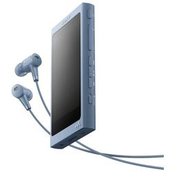Sony MP4 Player Walkman NW-A45HNL, Casti, High Resolution Audio, Ecran tactil, Bluetooth, NFC, Wireless, 16GB, Albastru