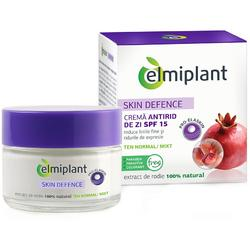 Crema Antirid de Zi Elmiplant Skin Defence 35+ pentru ten normal/mixt, 50 ml