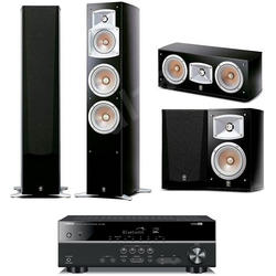 Yamaha Sistem Home Cinema Premium Plus cu receiver RX-V483+boxe podea NS-555 + centru NS-444 si surround NS-333