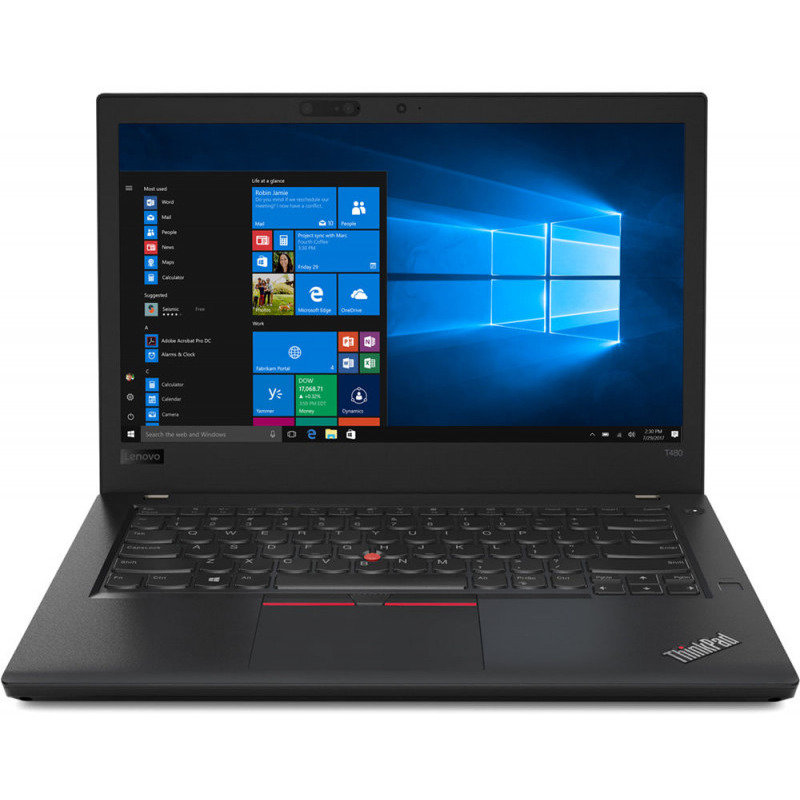 Laptop Thinkpad T480 Cu Procesor Intel® Core™ I5-8250u Pana La 3.40 Ghz, Kaby Lake R, 14, Full Hd, 16gb, 256gb Ssd, Intel® Uhd Graphics 620, Windows 10 Pro
