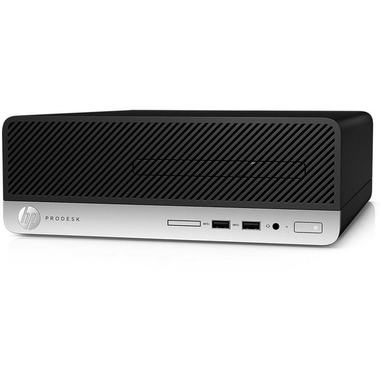 Sistem desktop HP ProDesk 400 G5 SFF, Intel Core i3-8100 (3.6GHz, 6MB), video integrat Intel UHD Graphics, 8GB DDR4 2666MHz (1x8GB), 256GB SSD, Win 10 Pro