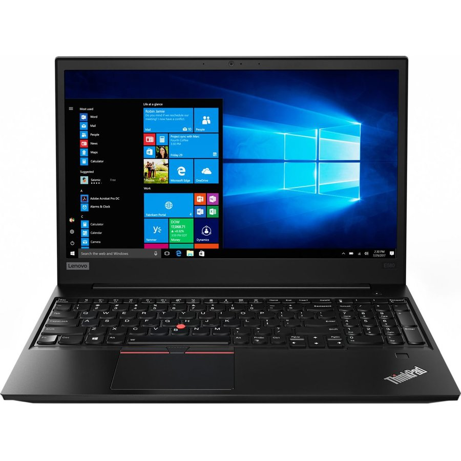 Laptop Lenovo ThinkPad E580, 15.6 FHD IPS, Intel Core i5-8250U (1.6GHz, up to 3.4GHz, 6MB), Intel UHD Graphics 620, 8GB DDR4 (1x8GB), 1TB HDD, 256GB SSD, NO ODD, Win 10 Pro