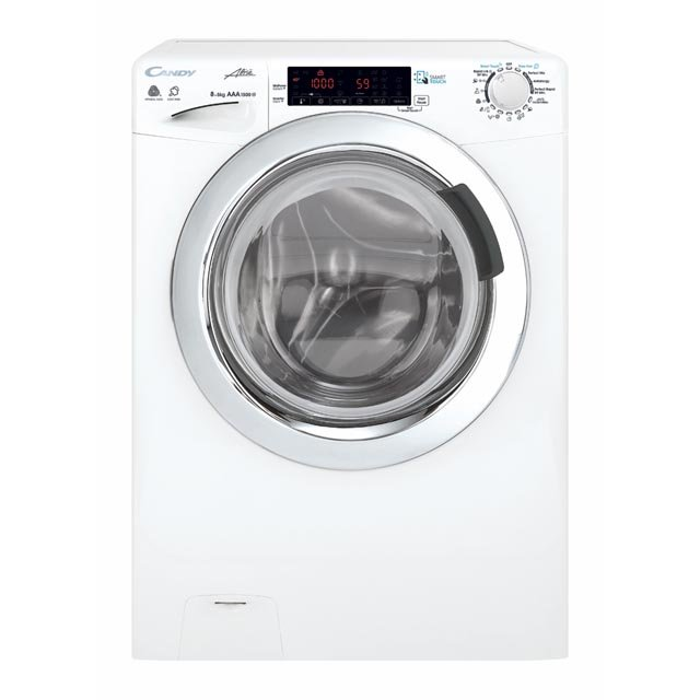 Masina de spalat rufe cu uscator Candy GVSW585TWHC, 8 kg spalare, 5 kg, uscare, 1500 rpm, Inverter, NFC, touch, clasa A, alb