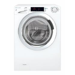 Masina de spalat rufe cu uscator Candy GVSW40464TWHC2-S, 6 kg spalare, 4 kg uscare, 1400 rpm, display touch, Mix Power System, Inverter, functie aburi, NFC, slim, clasa A, alb/chrome