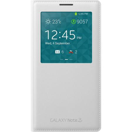 Samsung Husa Galaxy Note 3 N9005 S-View Cover White