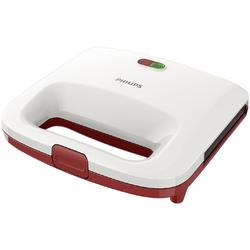 Philips Sandwich-maker Daily Collection HD2392/40, 820 W, placi antiaderente, alb/rosu
