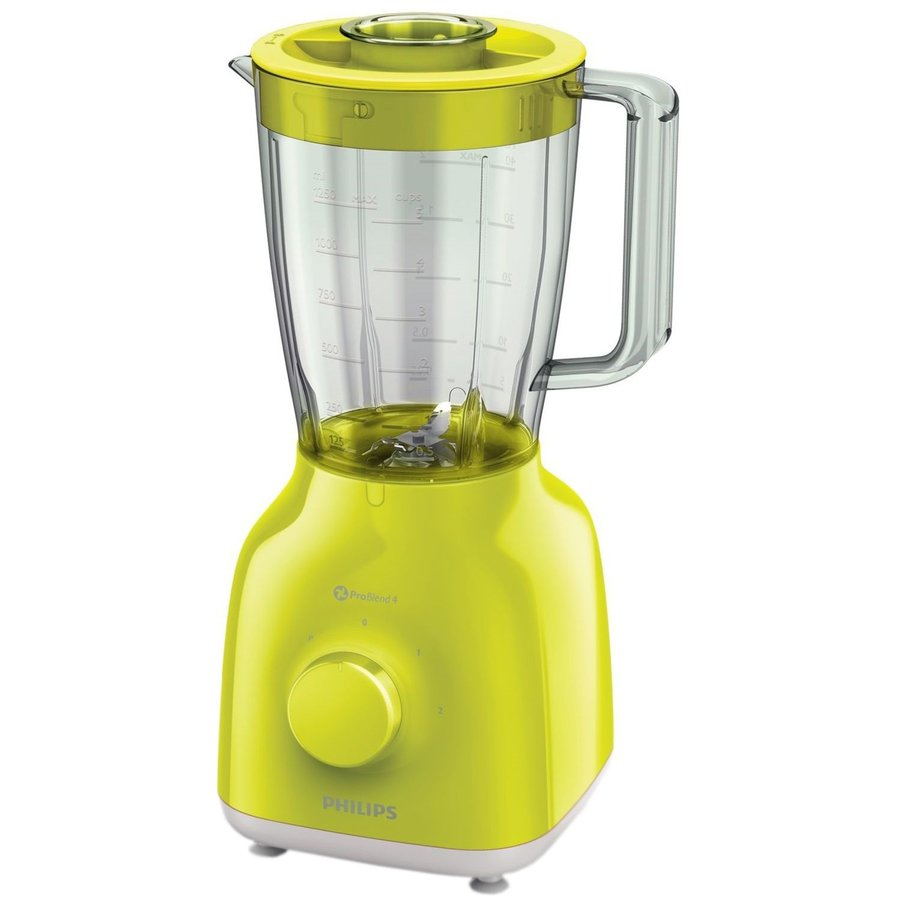 Blender Daily Collection HR2100/40, 400 W, 1.25 l, 2 viteze, Pulse, galben lime