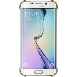 Husa Capac Clear View Transparent Gold EF-QG925BFEGWW pentru Samsung Galaxy S6 Edge G925