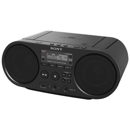 Microsistem audio ZSPS50, CD Player, tuner FM, 2x2W, USB, Negru