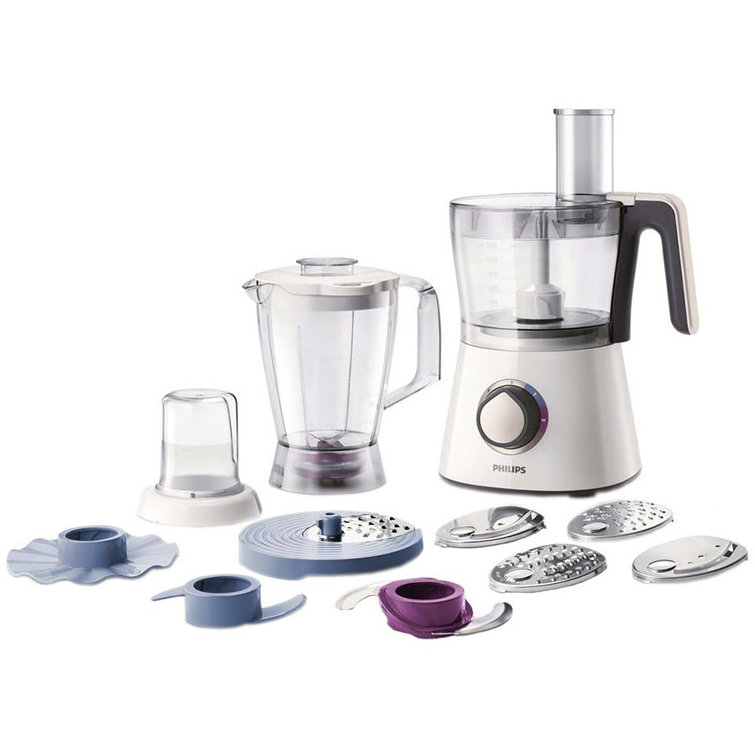 Robot de bucatarie Viva Collection HR7761/00, 750 W, bol 1.5 l, blender 1 l, 2 viteze + Pulse, alb