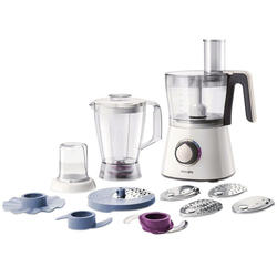Philips Robot de bucatarie Viva Collection HR7761/00, 750 W, bol 1.5 l, blender 1 l, 2 viteze + Pulse, alb