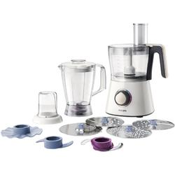 Philips Robot de bucatarie Viva Collection HR7762/00, 750 W, bol 1.5 l, blender 1 l, 2 viteze + Pulse, alb/crem