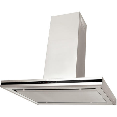Hota decorativa Hansa OWS952TH, Putere de absorbtie 529 mc/h, LED, 5 trepte de viteza, 90 cm, Inox