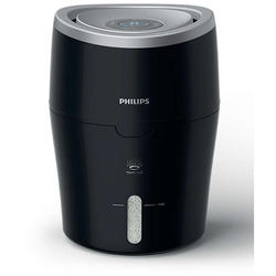 Philips Umidificator de aer HU4813/10, tehnologie NanoCloud, rezervor 2l, acoperire 44 mp, umidificare 300 ml/h, LED, negru
