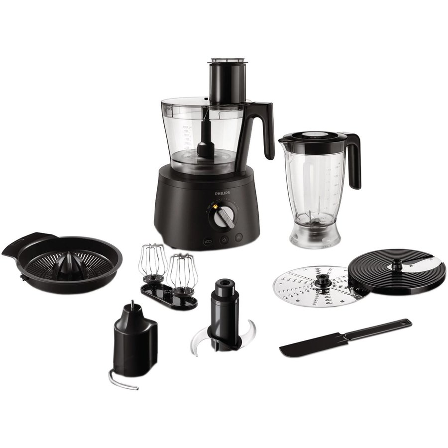 Robot de bucatarie Avance Collection HR7776/90, 1300 W, bol 2.4 l, blender 1.5 l, 12 viteze + Pulse, negru