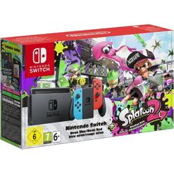 NINTENDO SWITCH CONSOLE (WITH NEON RED & NEON BLUE JOY-CONS) & SPLATOON 2 - GDG