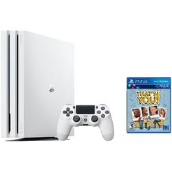 CONS SONY PS4 PRO WHITE+THATS YOU!