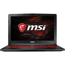 Laptop MSI Gaming 15.6'' GL62M 7REX, FHD,  Intel Core i7-7700HQ , 8GB DDR4, 1TB + 128GB SSD, GeForce GTX 1050 Ti 4GB, FreeDos, Black
