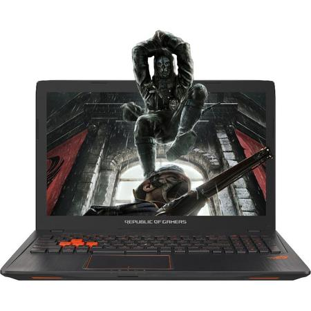 Resigilat Laptop ASUS Gaming 15.6'' ROG GL553VD, FHD, Intel Core i7-7700HQ , 8GB DDR4, 1TB 7200 RPM, GeForce GTX 1050 4GB, Black metal