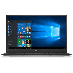 Ultrabook DELL 13.3'' New XPS 13 (9360), FHD InfinityEdge,  Intel Core i7-8550U , 8GB, 256GB SSD, GMA UHD 620, Win 10 Pro, Silver