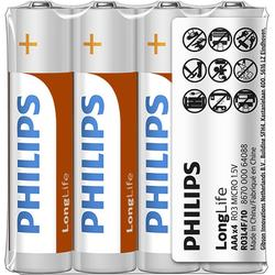 Philips Baterii LONGLIFE AAA 4-FOIL W/ STICKER