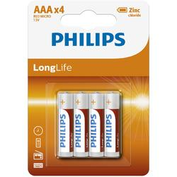Philips Baterii LONGLIFE AAA 4-BLISTER