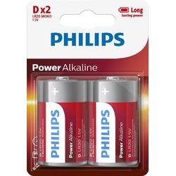 Philips Baterii POWER ALKALINE D 2-BLISTER