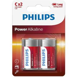 Philips Baterii POWER ALKALINE C 2-BLISTER