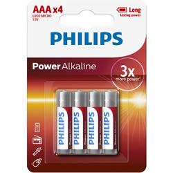 Philips Baterii POWER ALKALINE AAA 4-BLISTER