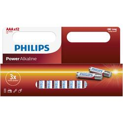 Philips Baterii POWER ALKALINE AAA 12-WIDE
