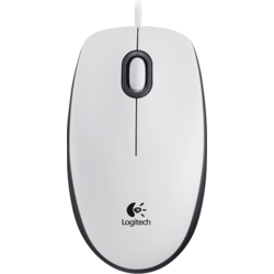 Mouse cu fir Logitech M100, WHITE