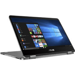 Laptop 2-in-1 ASUS 14'' VivoBook Flip 14 TP401NA, FHD Touch, Intel Pentium N4200 , 4GB, 64GB eMMC, GMA HD 505, Win 10 Home, Grey