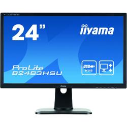 Monitor LED IIyama ProLite B2483HSU-B1DP 24 inch 2ms black