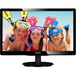 Monitor LED Philips 200V4LAB2/00 19.5 inch 5ms Black