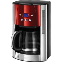 Russell Hobbs Cafetiera Luna Solar Red 23240-56, 1000 W, 1.8 l, display LCD, timer, rosu/inox