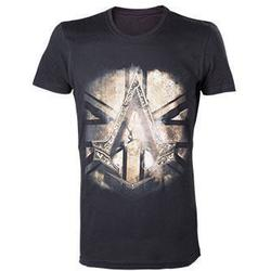 Bioworld Europe ASSASSINS CREED SYNDICATE BRITISH FLAG BLACK TSHIRT S