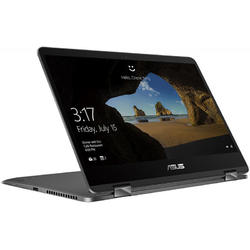 Laptop 2-in-1 ASUS 14'' ZenBook Flip UX461UA, FHD Touch, Intel Core i5-8250U, 8GB, 256GB SSD, GMA UHD 620, Win 10 Home, Gray