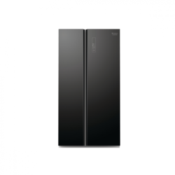 Hotpoint Side by side SXBHAE925, 510 l, Clasa A+, H 178.8 cm, NoFrost, Sticla Neagra