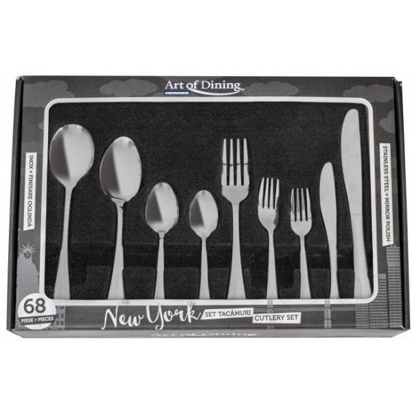 Set tacamuri Heinner New York HR-HP- NY68, 68 piese, inox