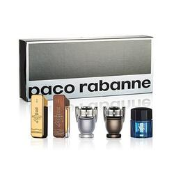 Paco Rabanne Set cadou barbati 1 Million apa de toaleta 5 ml + 1 Million Prive apa de parfum 5 ml + Invictus apa de toaleta 5 ml + Invictus Intense apa de toaleta 5 ml + Pure XS apa de toaleta 6 ml