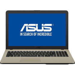 Laptop ASUS 15.6'' VivoBook 15 X540MA, HD, Procesor Intel® Celeron® N4000 (4M Cache, up to 2.60 GHz), 4GB DDR4, 500GB, GMA UHD 600, Endless OS, Chocolate Black, No ODD