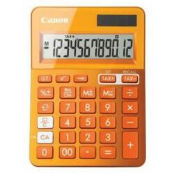 Calculator birou Canon LS100KMOR, 10 digiti, dual power, orange